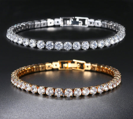 High quality luxury wear rose gold and platinum plated zircon bracelets