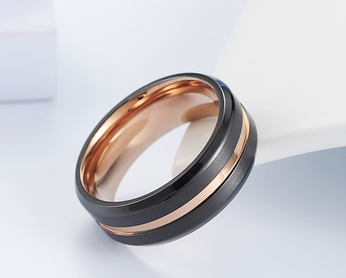 Men titanium ring stainless steel luxury wear