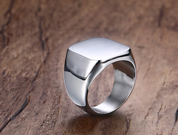 Titanium plated high quality men ring