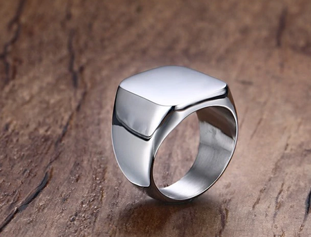 Titanium plated high quality men ring - Lexception