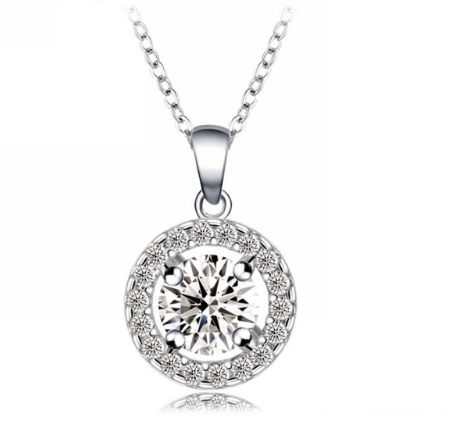 18K platinum plated necklace