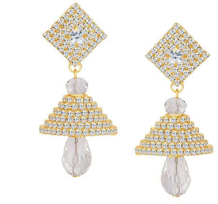 ShoStopper Fine Gold Plated Austrian Diamond Earring