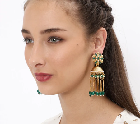 Stunning Gold Plated Jhumki Earring