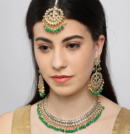 Ritzy Kundan Gold Plated Choker Neckalce Set for Women