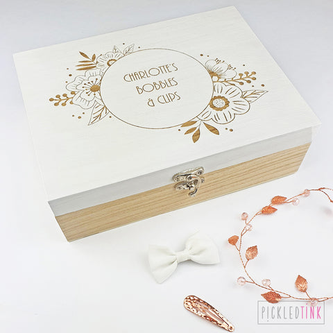 Floral Design Keepsake Box