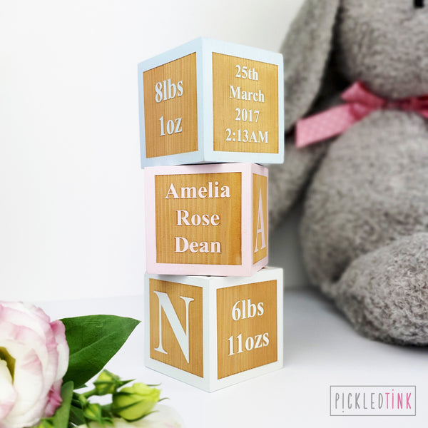 Birth Keepsake Cube