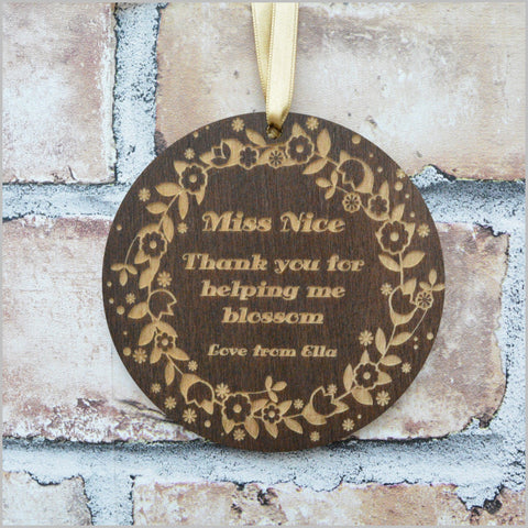 Thank you Teacher Sign - Blossom Theme