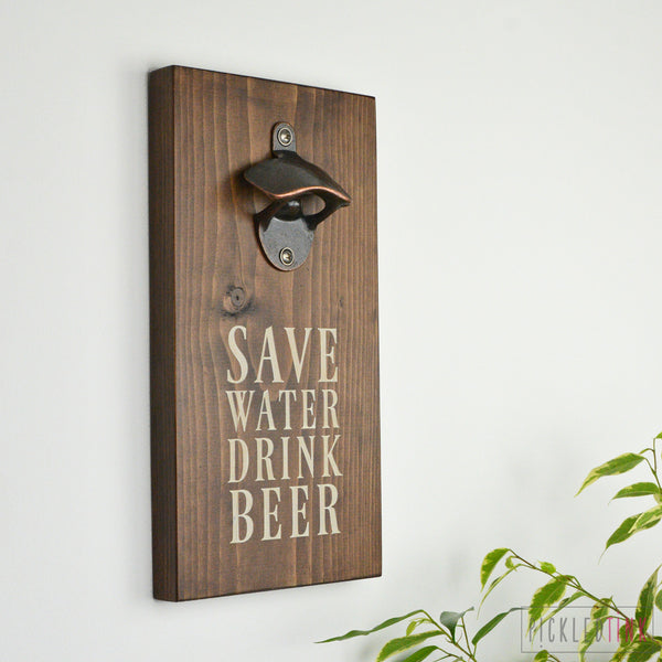 Wall Mounted Bottle Opener - Custom Message