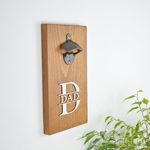 Wall Mounted Bottle Opener - Monogram Design