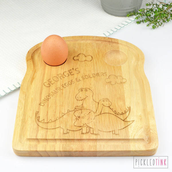 Personalised Breakfast Board - Dinosaur