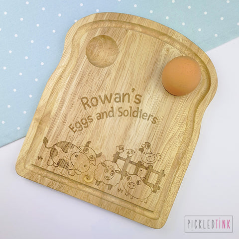 Personalised Breakfast Board - Farm