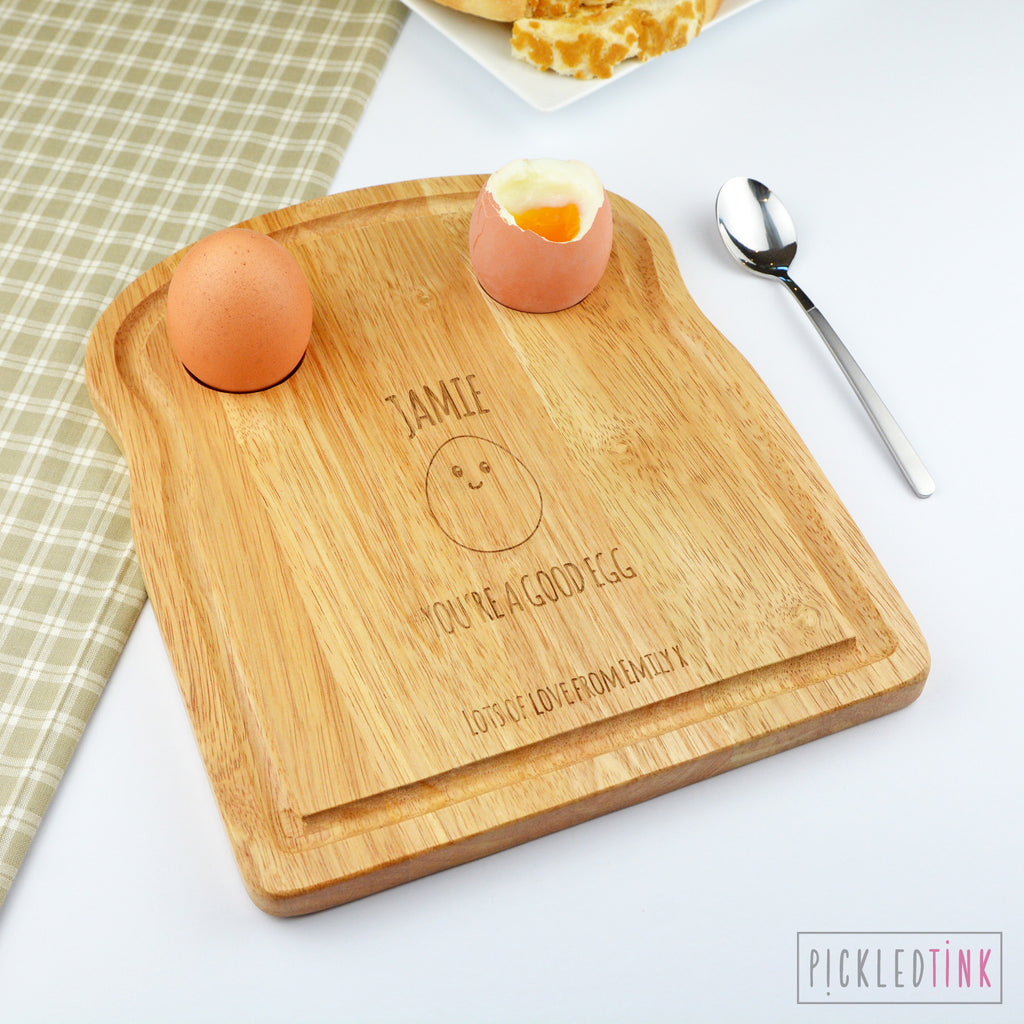 Personalised Breakfast Board - Good Egg