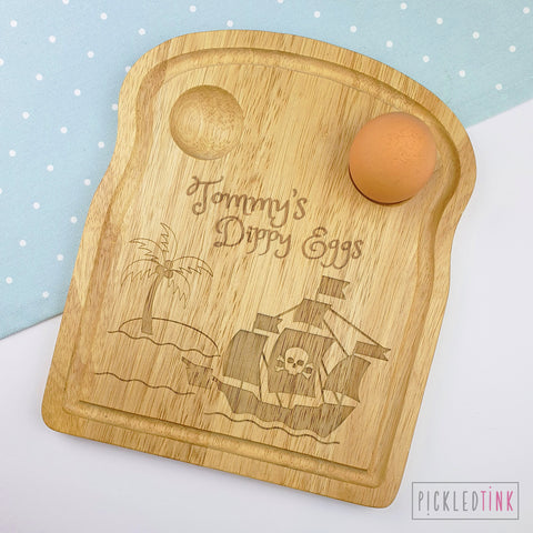Personalised Breakfast Board - Pirate