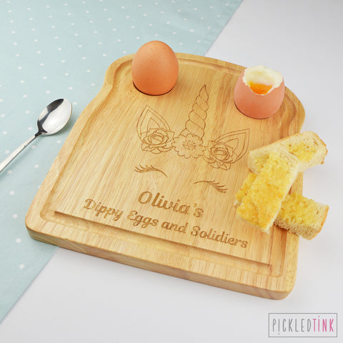 Personalised Breakfast Board - Unicorn