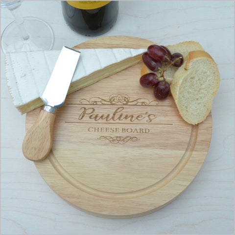 Personalised Cheese Board with Knives