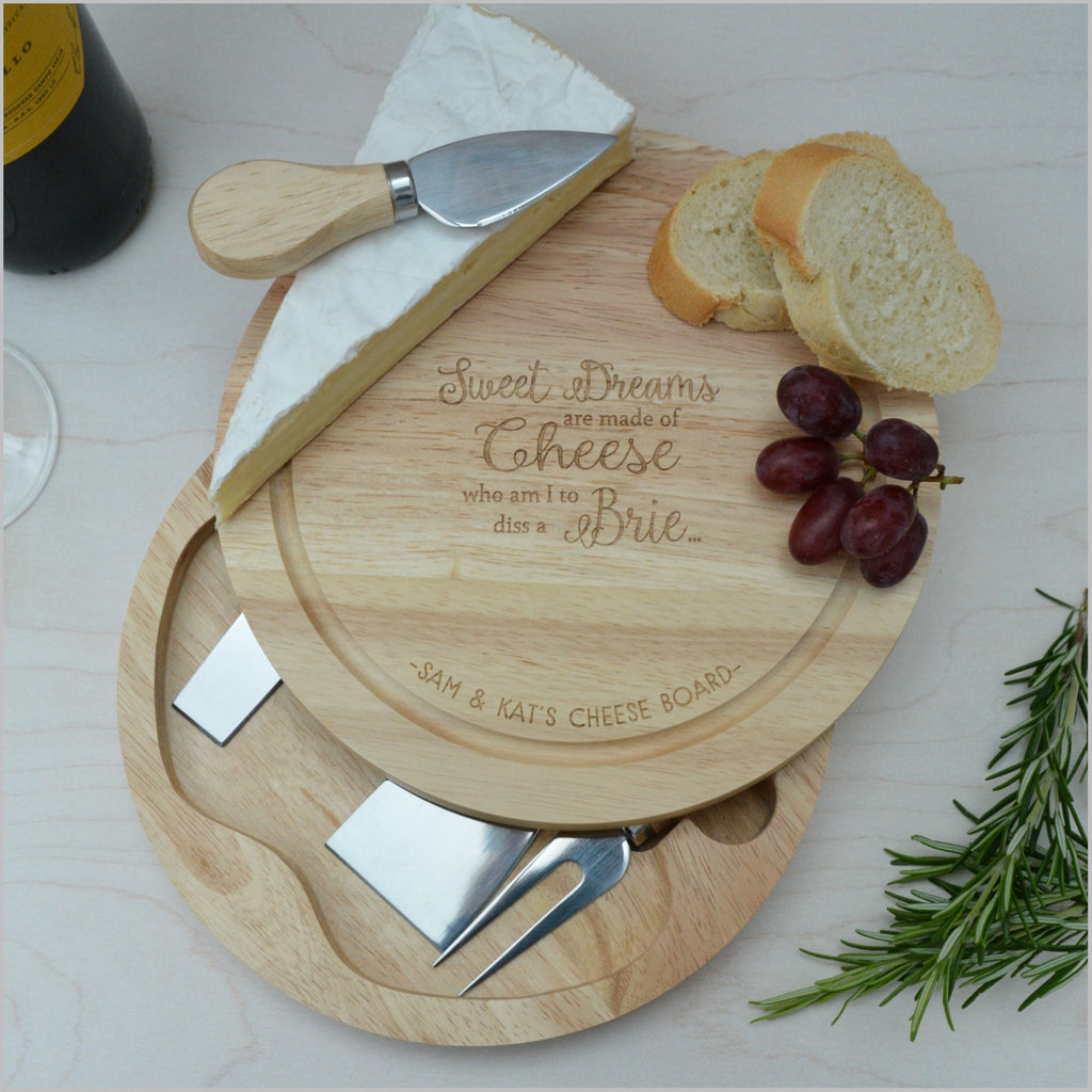Cheese Board with Knives - Sweet Dreams are made of Cheese