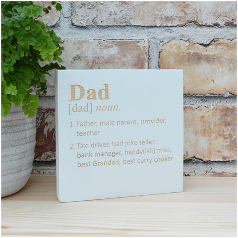 Dad Definition Free-standing Block