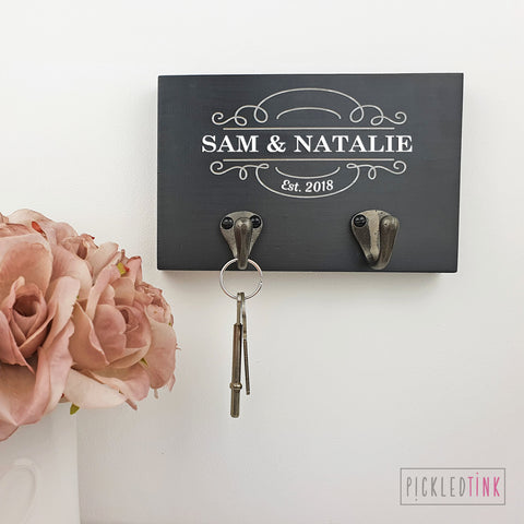 Personalised Couples Key Hook