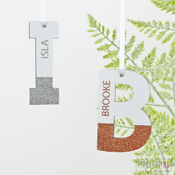 Glitter Initial Decoration