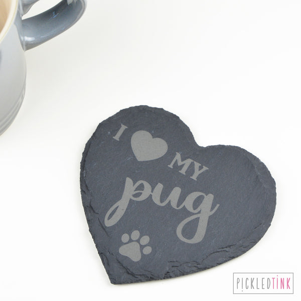 I Heart my Dog Coaster