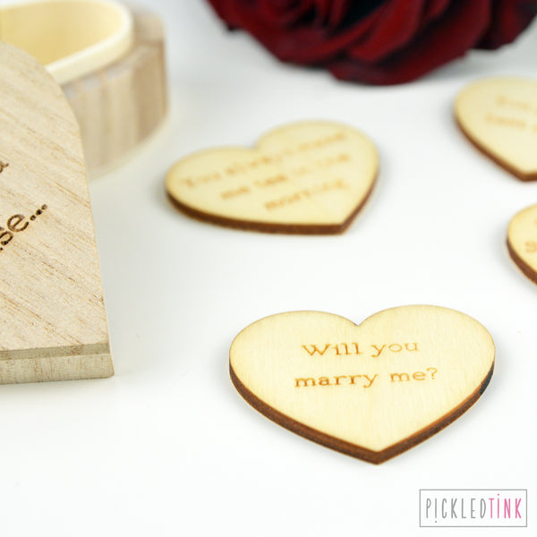 'I love you because' Heart Token Box