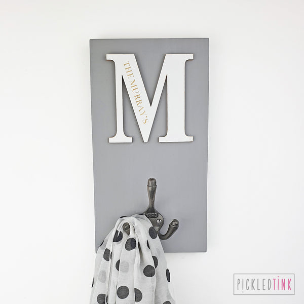 Personalised Initial Coat Hook