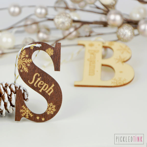 Snowflake Initial Decoration