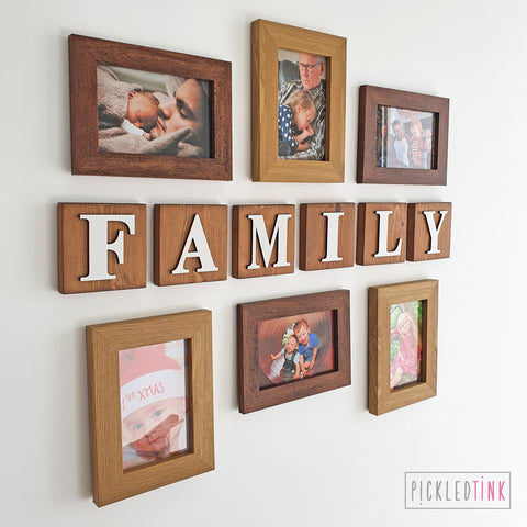 Wooden Letter Wall Tiles