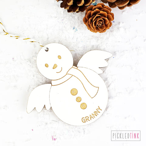 Snowman Angel Memorial Decoration
