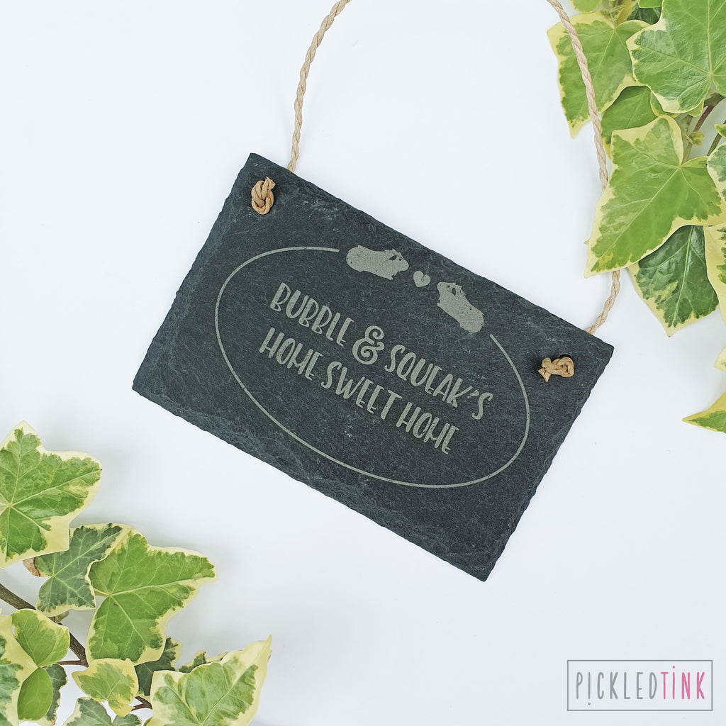 Mini Slate Guinea Pig Hutch Sign