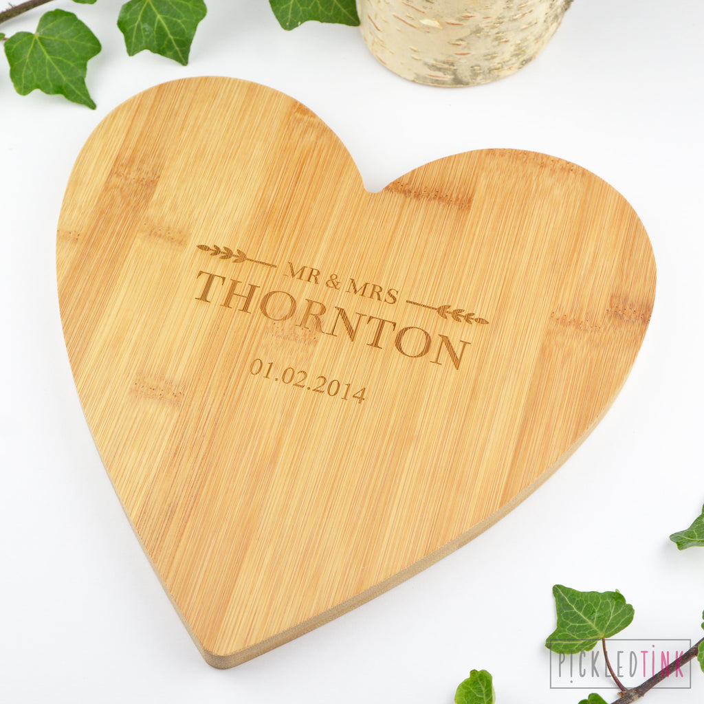 Mr and Mrs Personalised Chopping Board