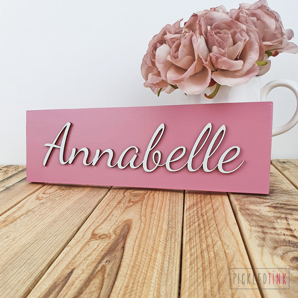 Wooden Name Sign