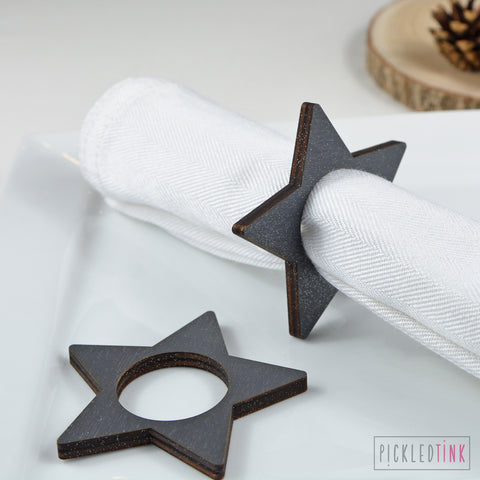 Christmas Star Napkin Rings