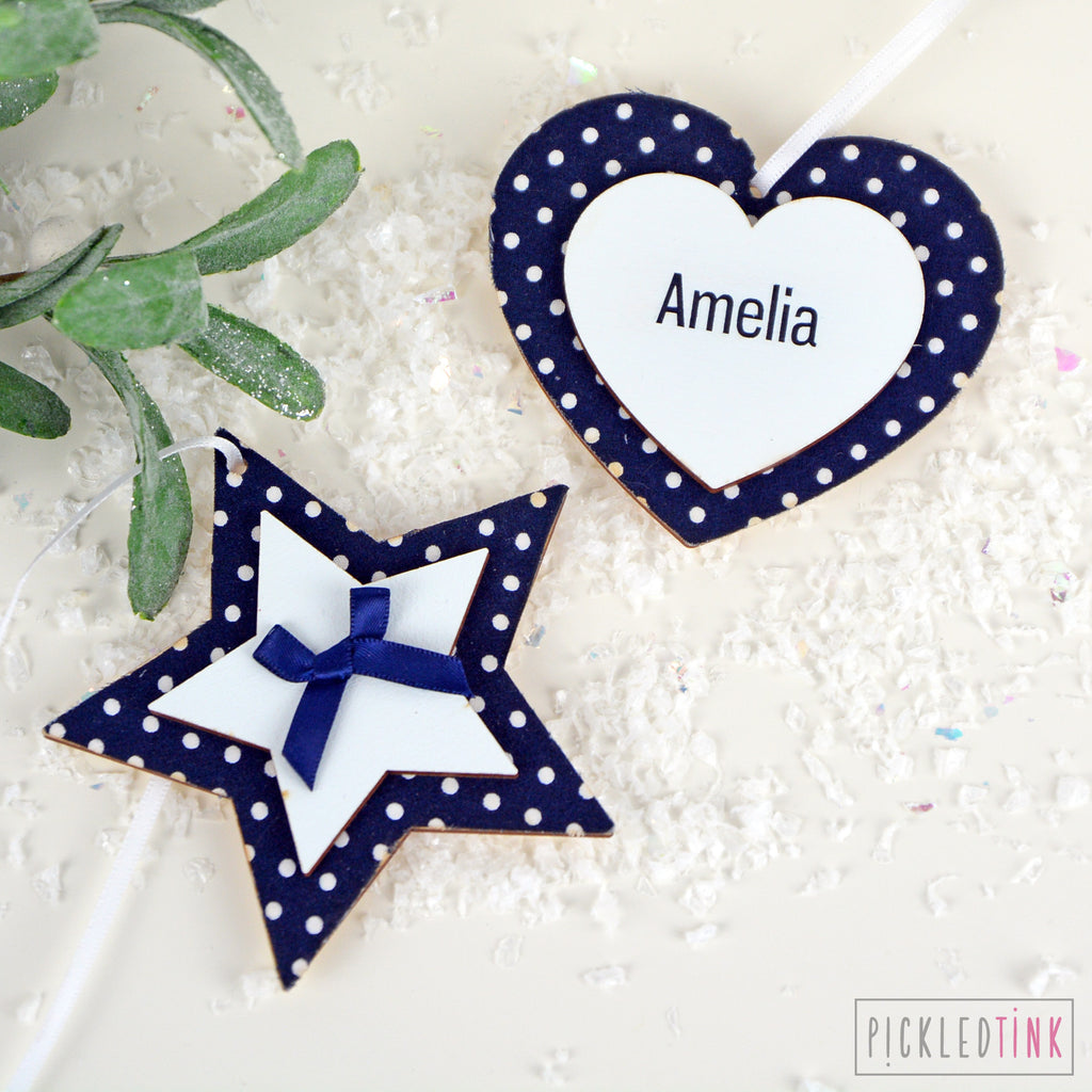 Navy Polka Dot Decoration