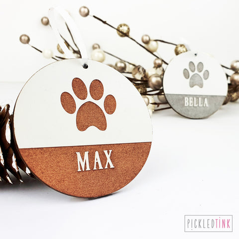 Pet Paw Print Decoration