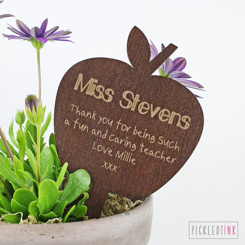 Wooden Apple Plant Topper