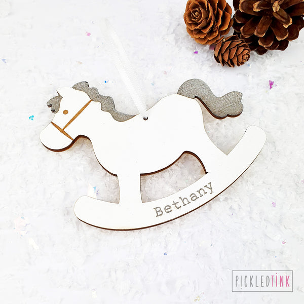 Rocking Horse Christmas Tree Decoration