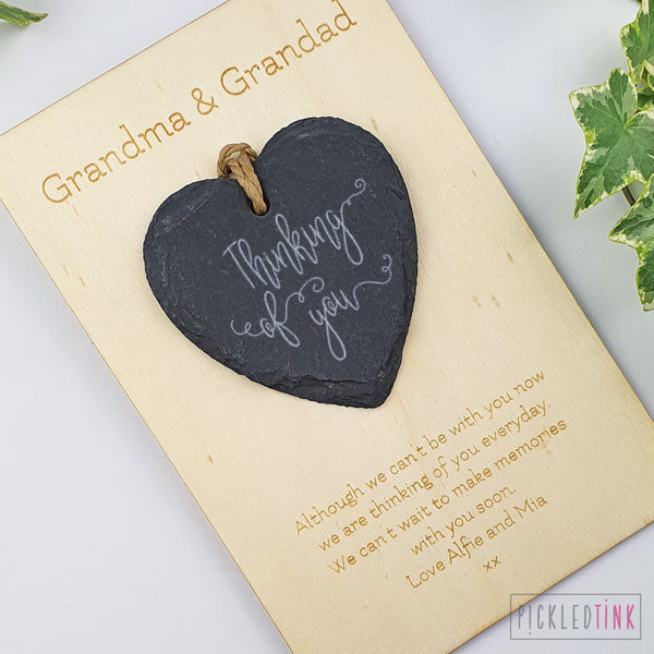 Slate Heart Keepsake Card