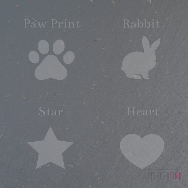 Welsh Slate Pet Memorial Plant Marker