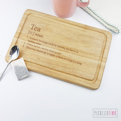Tea Definition Chopping Board