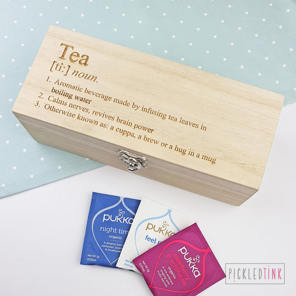 Tea Definition Tea Box
