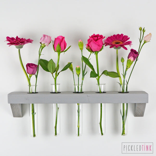 Test Tube Floating Shelf Vase