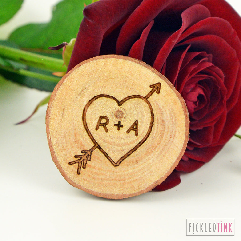 Wooden Couples Tree Carving Fridge Magnet