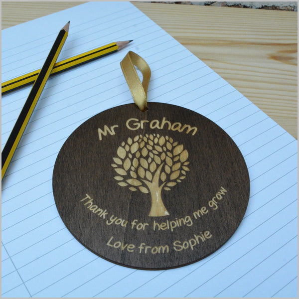 Thank you Teacher Sign - Tree Theme