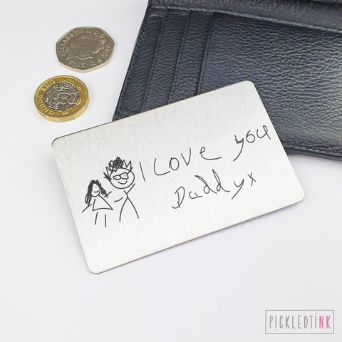 Child's Drawing Wallet Keepsake Card