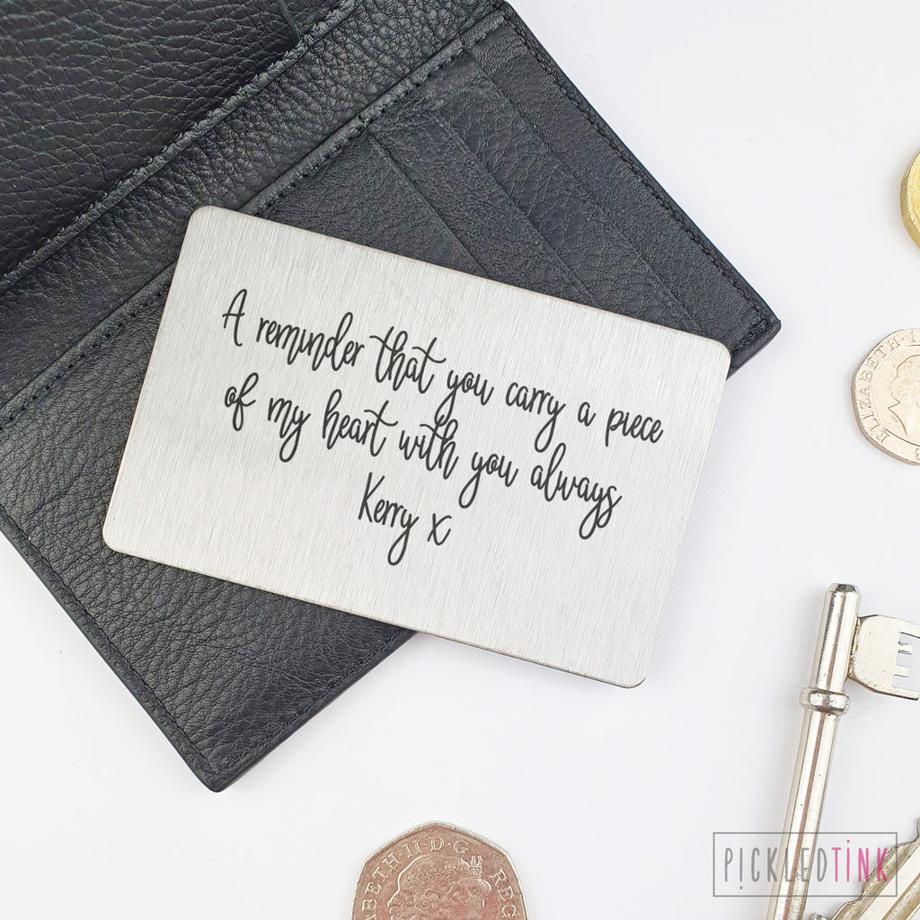 Wallet Keepsake Card - Custom Message