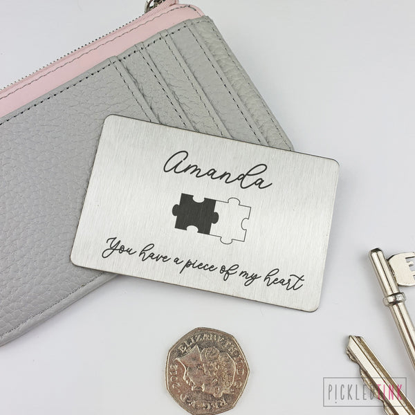 Puzzle Design Wallet Keepsake Card