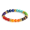 Natural Meditation Gem/Semi Precious Stones & 7 Chakra Bracelet. Bracelet Body Kingdom Shop