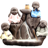 Little Cute Monk Backflow meditation Incense Cones Burner