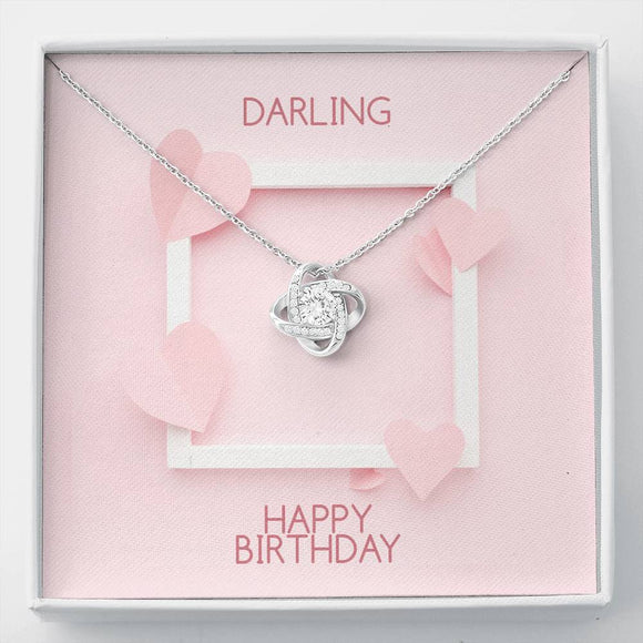 Happy Birthday - Love Knot Necklace